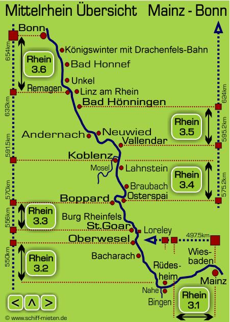 Mittelrheintal Karte.Rhein Schifffahrt Landkarte Mainz Fahrplan Schiff Bonn